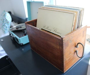 Restoring Vintage Box to Record Box