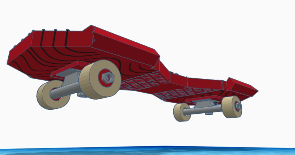 Picture of 3d Skateboard Design (Tinkercad)