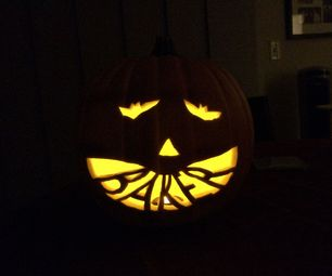 Pumpkin with Name in Mouth