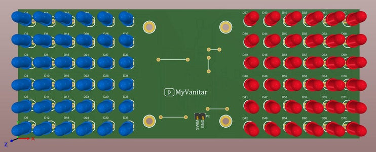 Figure 5: a 3D View of the PCB Board From the Top (last Revision)