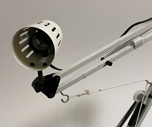 Pulley-Powered, Robotic Swing Arm Lamp
