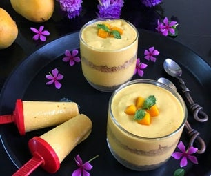 2 in 1 Mango Mousse Trifle/Mango Popsicles