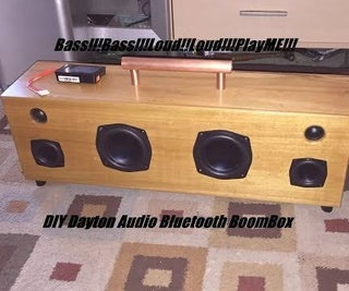 DIY Portable Bluetooth Dayton Audio BoomBox 150W-120W (ND105, ND65, TPA3116D2, CSR8630)