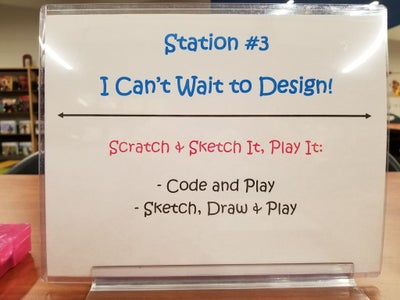 Station #3: I Can't Wait to Design!