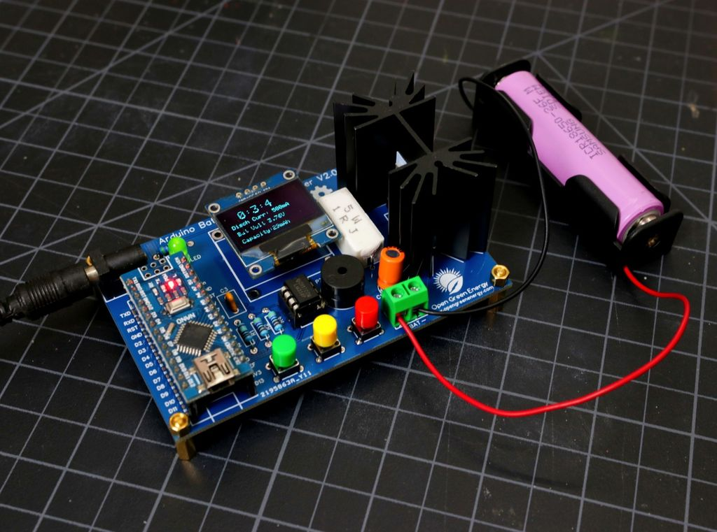 Picture of DIY Arduino Battery Capacity Tester - V2.0