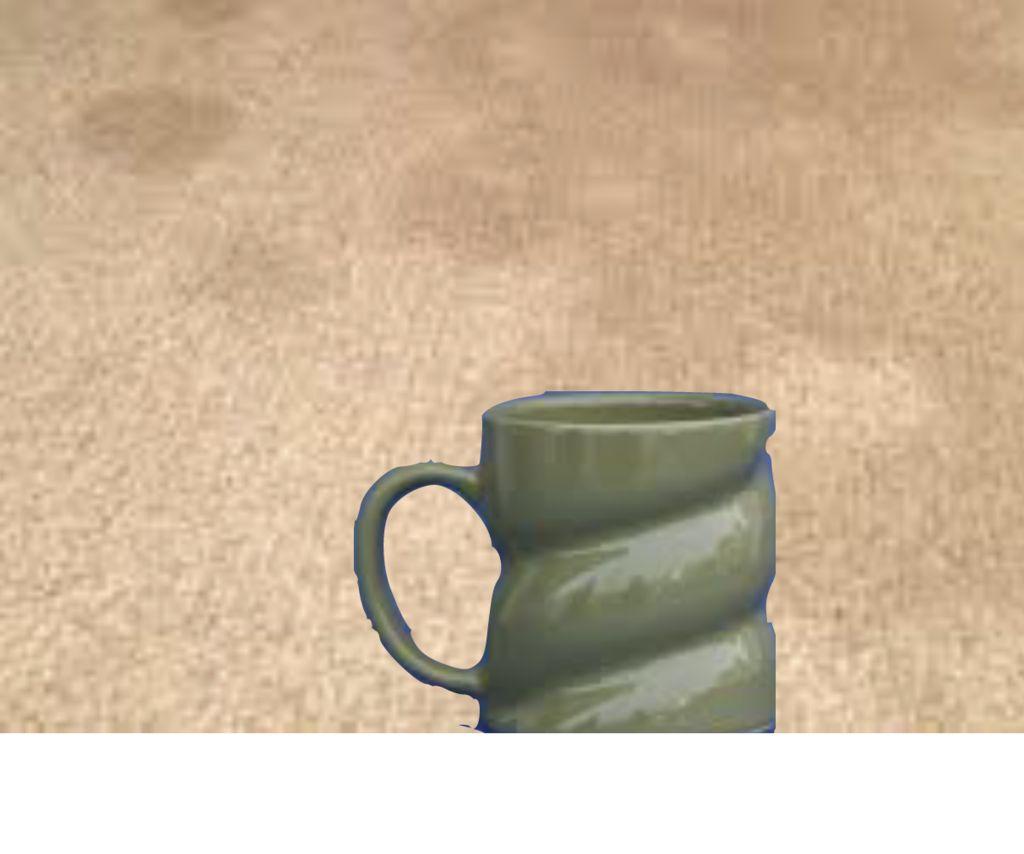 DIY Mug From Coffe Grinds