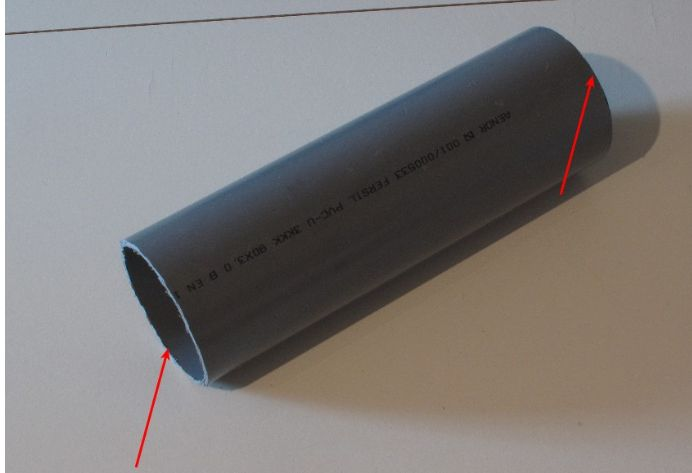 Picture of Cutting and Polishing of PVC Tube