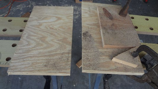 Cutting the Bottom Doors and Fitting the Hinges.