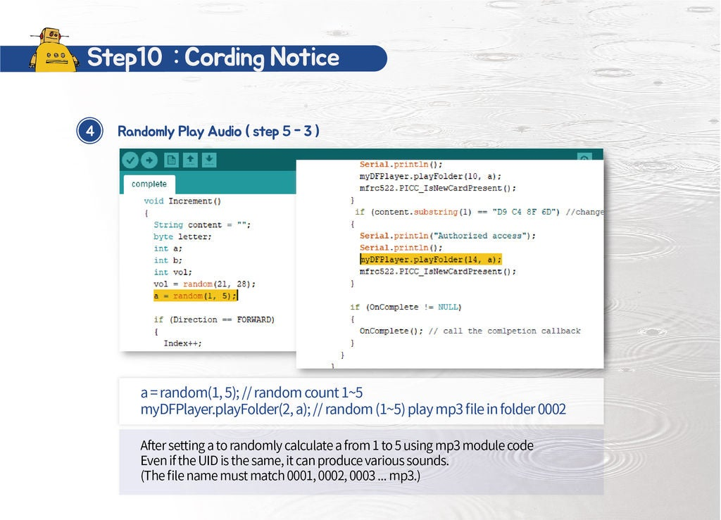 Picture of Step 10 : Coding
