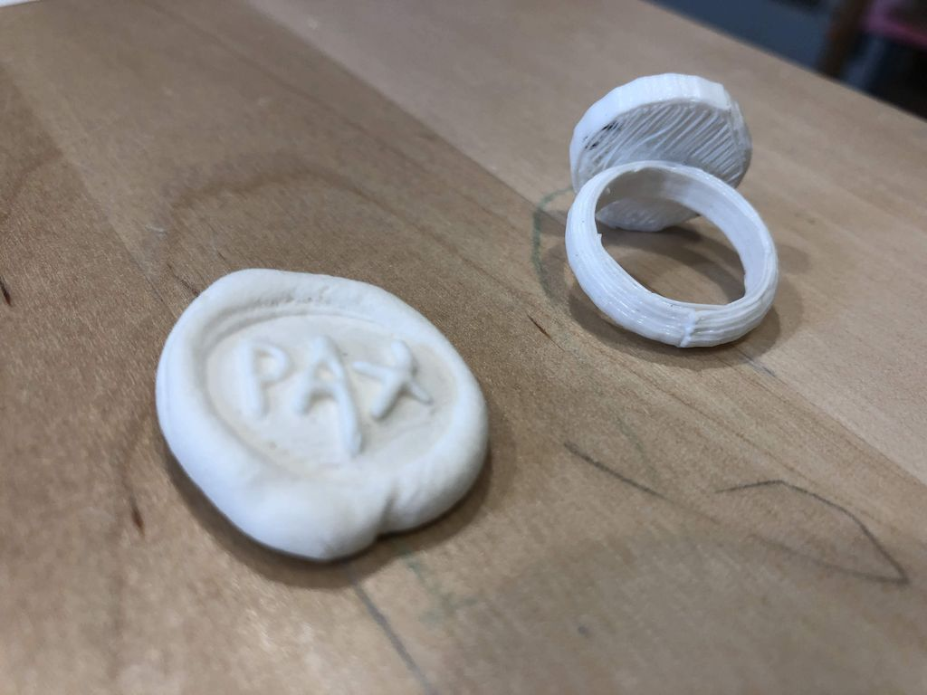 Picture of Glue the Top of the Ring to the Base and Stamp Away!
