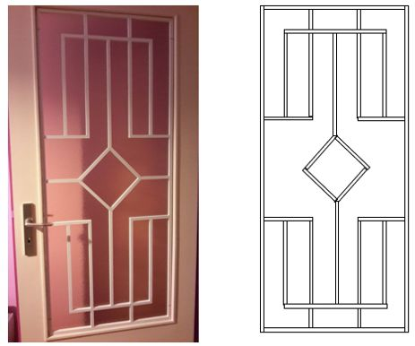Decorative Panel for Glazed Door