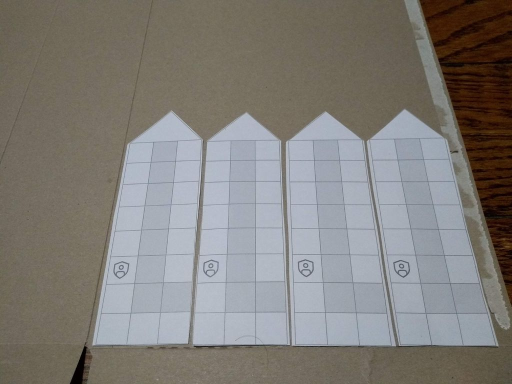 Picture of Paste the Strips Onto the Cardboard