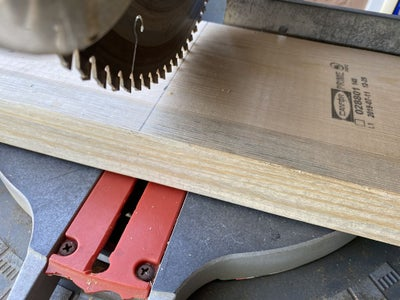 Start Out Cutting for the Top of Bench.