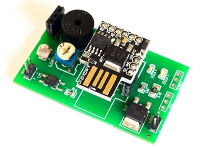 Burglar Alarm Using PIR Sensor and Digispark With PCB Layout