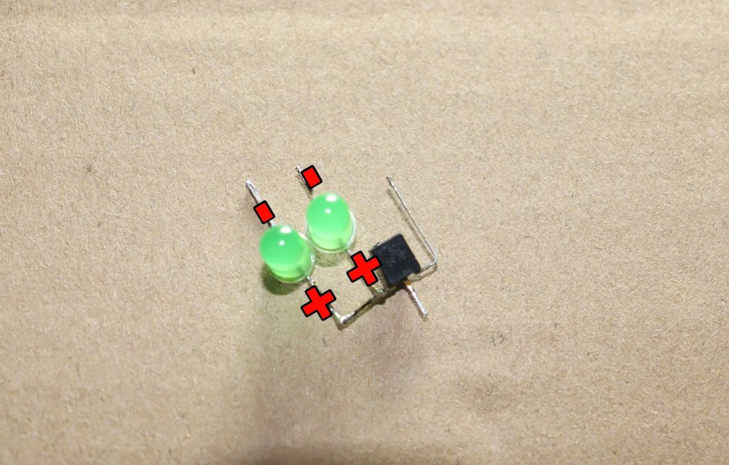 Picture of Connect Green LED to Transistor