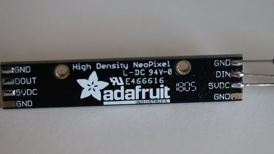 Solder Male to Male Jumper Wires to Adafruit NeoPixel Ring and NeoPixel Stick