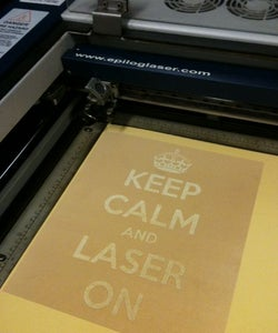 KEEP CALM THE LASER IS ON