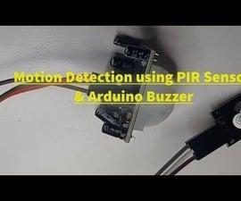How to Use PIR Sensor and a Buzzer Module - Visuino Tutorial