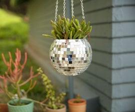 Disco Ball Hanging Planter
