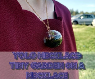 YOLO Necklace - Tiny Garden on a Necklace