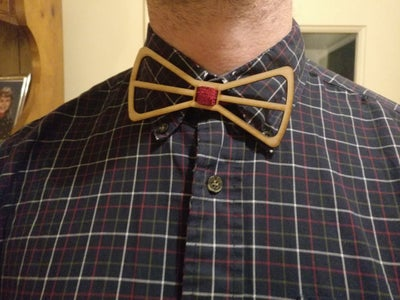 Laser Cut Bow Tie With Colorful Cloth