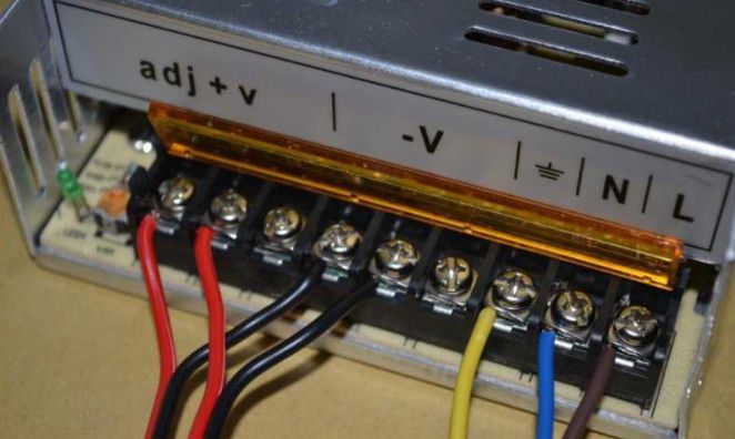 Picture of Switching Power Supply Wiring
