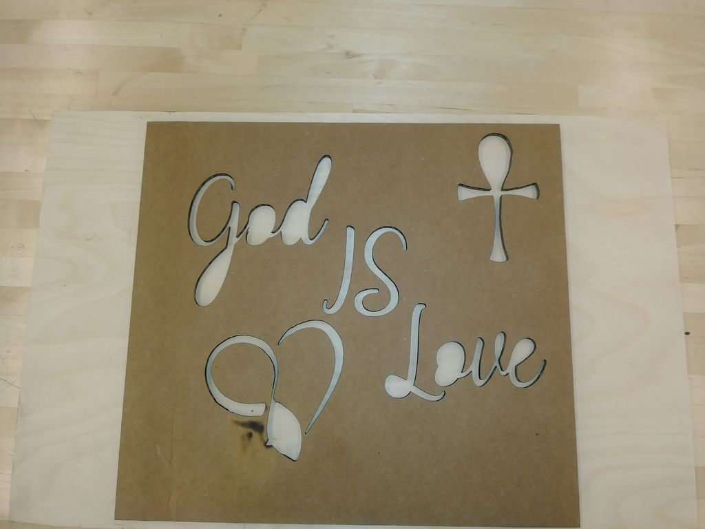 Picture of Step:5 Pick Material You Would Like to Transfer Stencil to
