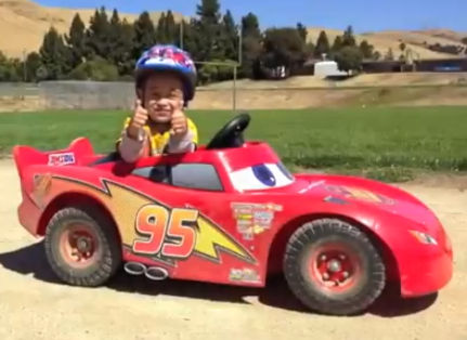 Picture of Father modifies his son's powerwheels to 66HP (video)