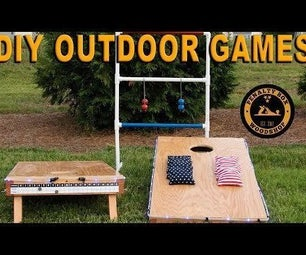 DIY Outdoor Games - Cornhole and the Golf Ball Ladder Game