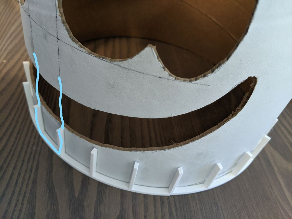 Picture of Glue Grid Frame and Install LEDs to Helmet