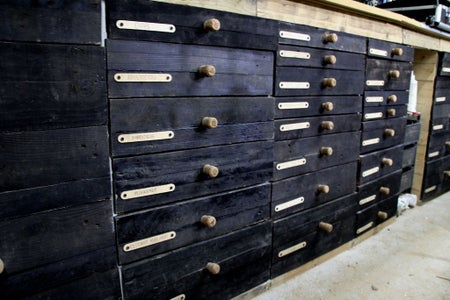 Workshop Cabinet With Reused Materials