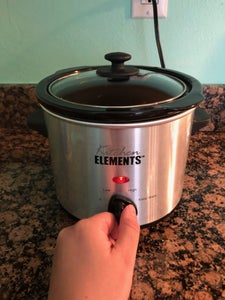 Turn Slow Cooker on Low