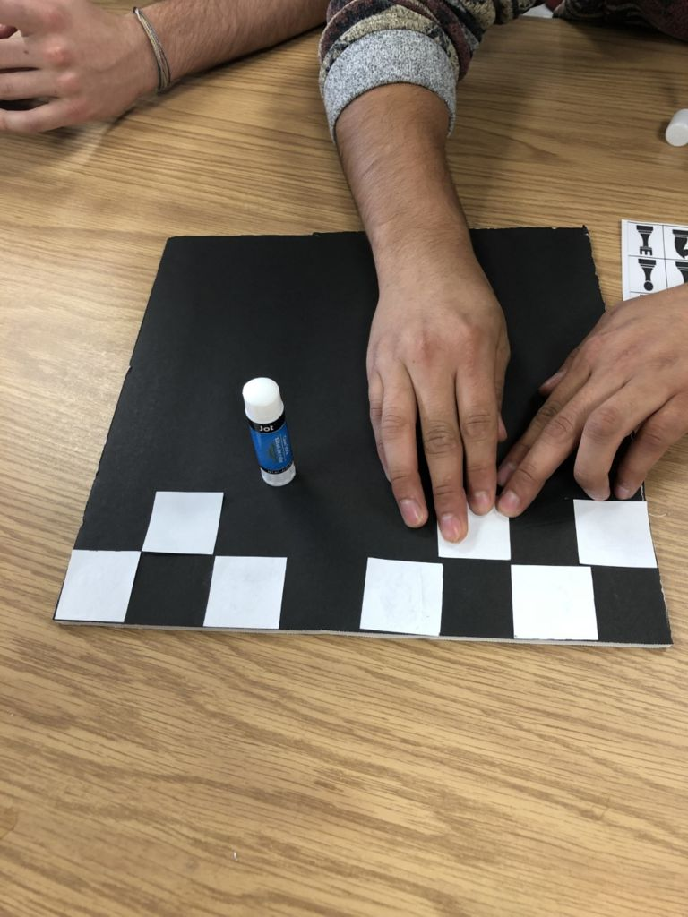 Picture of Placing and Glueing White Tiles