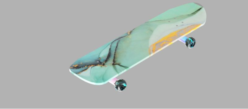 Picture of Render the Skateboard and Change the Material of Each Part.