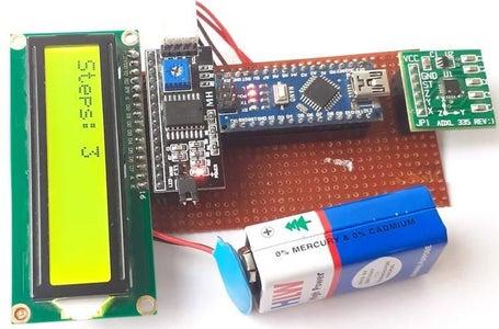 DIY Pedometer Using Arduino and Accelerometer