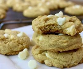 如何使香草白巧克力片布丁饼干