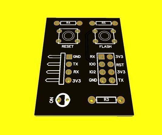 ESP01 Programming Printed Circuit Board