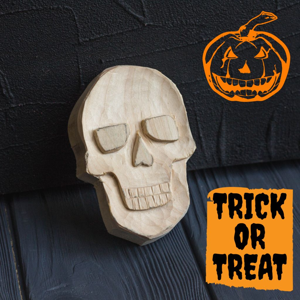 Picture of Carving a Skull Out of Wood I Wood Carving for Beginners
