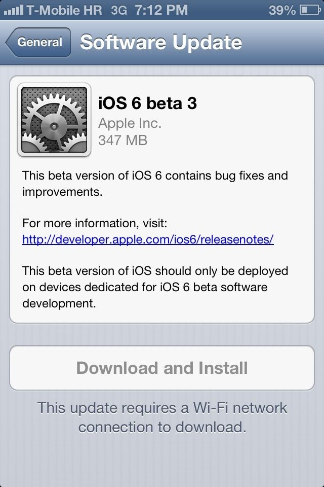 Picture of Quickest Way to Update If You Have Beta 2