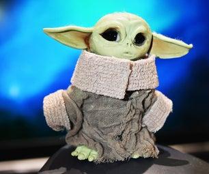 Baby Yoda Mini Figure (polymer Clay)