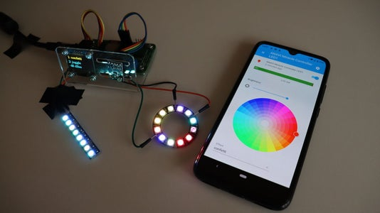 Control NeoPixels From Home Assistant