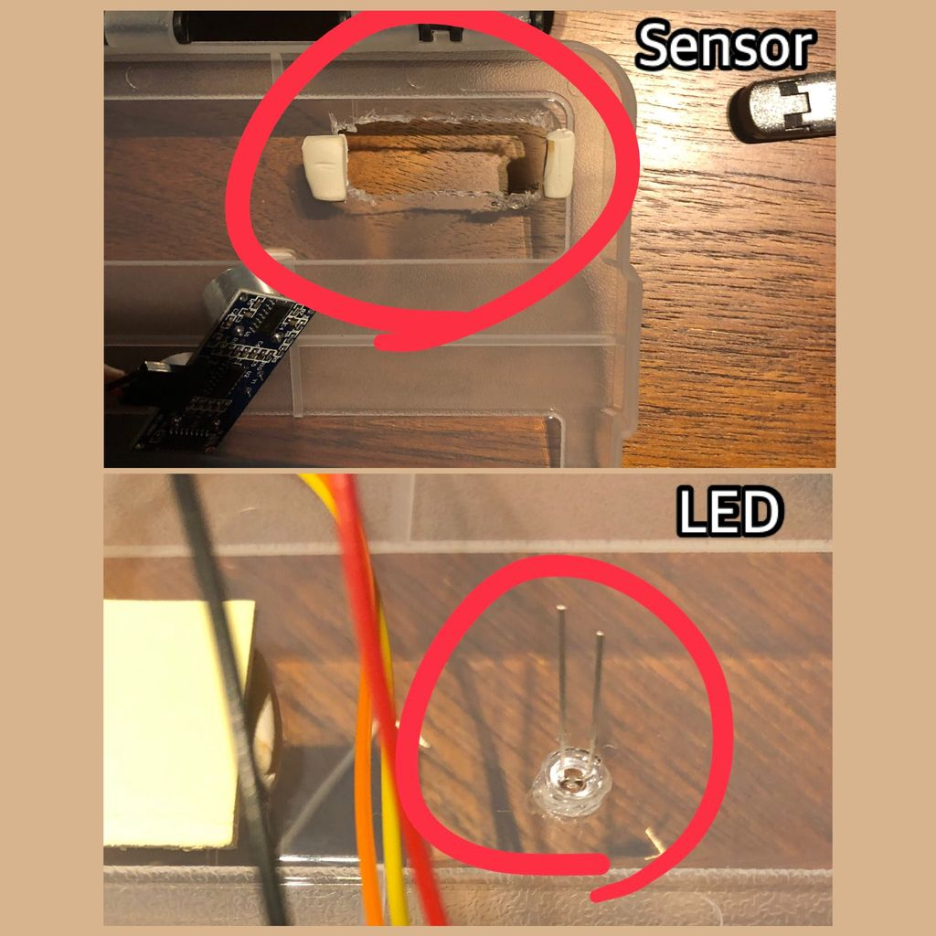 Picture of  Insert the Sensor and LED