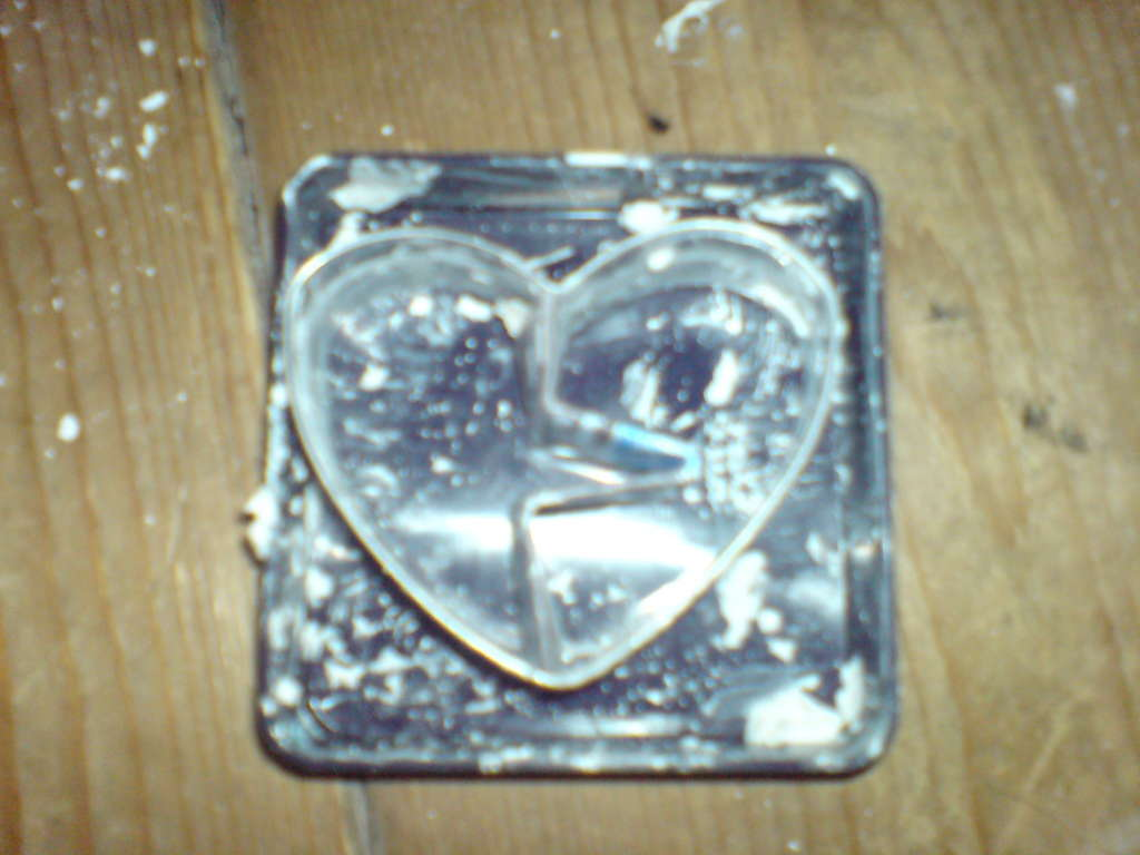 Picture of Bending the Card and Placing It Into the Mold