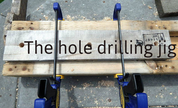 Step 4: Drill Holes in 1x6's and Legs