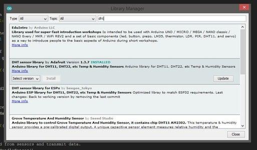 Arduino Code - Sensor Libraries