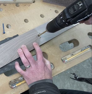 Mark & Drill Through-Holes (for Stud Screws & Rope Holes)