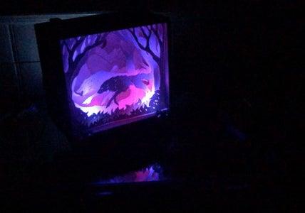Interactive Papercut Lightbox With Arduino