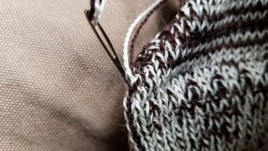 Stitch to the Inside of the Sock