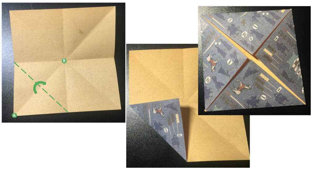 Picture of Fold Corners to the Center 1