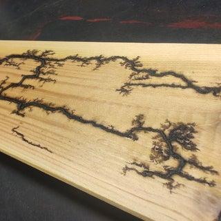 Wood Burning Lichtenberg Figures